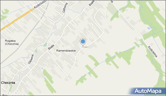 Chocznia, Osiedle Ramendowskie, mapa Chocznia
