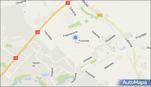 Grębocin gmina Lubicz, Osiedlowa, mapa Grębocin gmina Lubicz