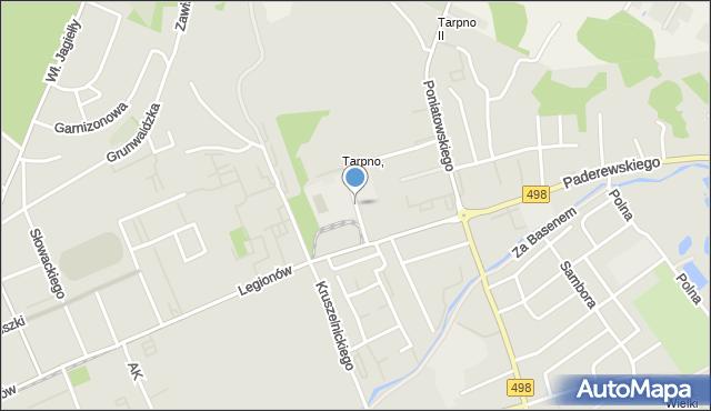 Grudziądz, Osińskiego Pawła, mapa Grudziądza