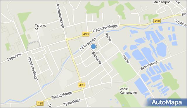 Grudziądz, Ossowskiego, mapa Grudziądza