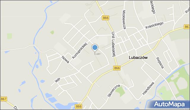 Lubaczów, Osiedle Jagiellonów, mapa Lubaczów