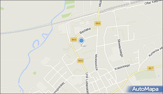 Lubaczów, Osiedle Mickiewicza Adama, mapa Lubaczów