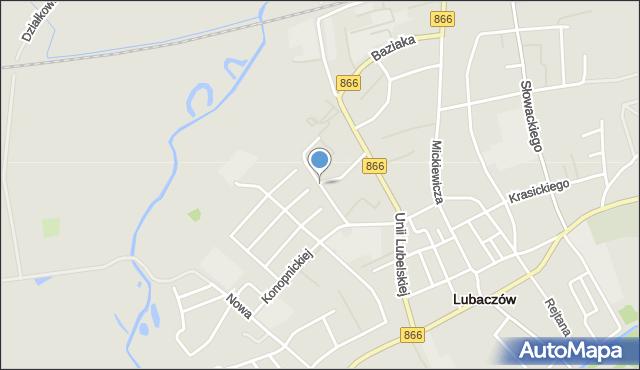 Lubaczów, Osiedle Unii Lubelskiej, mapa Lubaczów