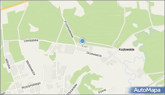 Luzino, Osiedlowa, mapa Luzino