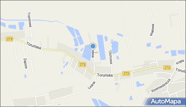Mała Nieszawka, Osikowa, mapa Mała Nieszawka