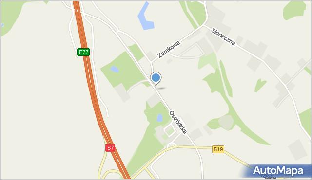 Małdyty, Ostródzka, mapa Małdyty