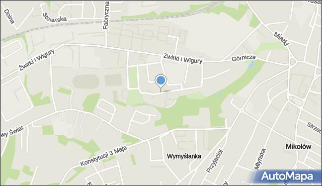 Mikołów, Osiedle przy Plantach, mapa Mikołów
