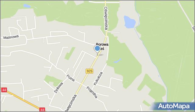 Mikołów, Oświęcimska, mapa Mikołów