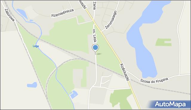 Olecko, Osiedle Lesk, mapa Olecko