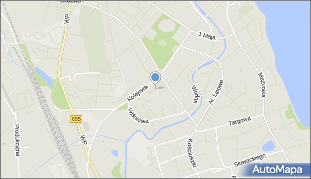 Olecko, Osiedle nad Legą, mapa Olecko