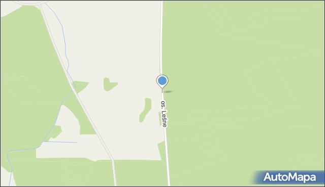 Prostki, Osiedle Leśne, mapa Prostki