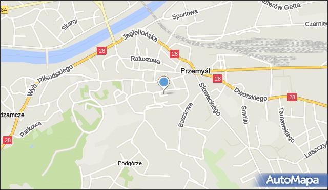 Przemyśl, Osińskich Michała i Kazimierza, mapa Przemyśla