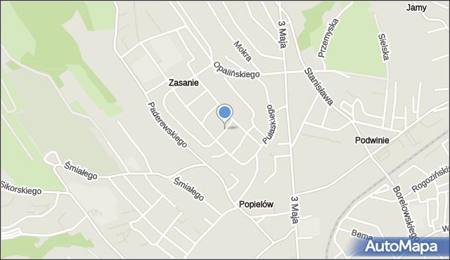 Przemyśl, Ostrołęcka, mapa Przemyśla