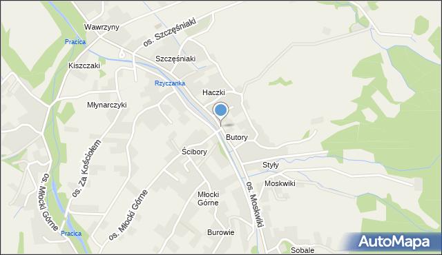 Rzyki, Osiedle Haczki, mapa Rzyki