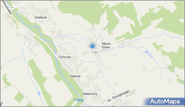 Rzyki, Osiedle Młocki Dolne, mapa Rzyki