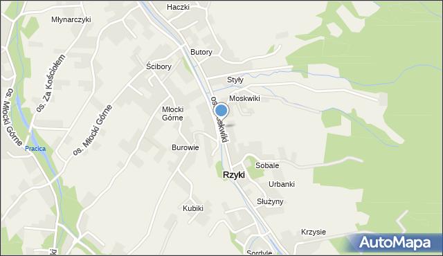 Rzyki, Osiedle Moskwiki, mapa Rzyki