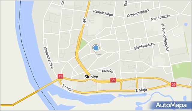 Słubice, Osiedle Słowiańskie, mapa Słubice