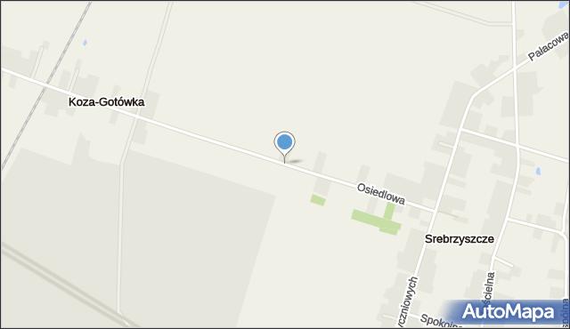Srebrzyszcze, Osiedlowa, mapa Srebrzyszcze