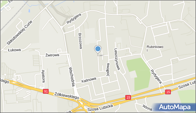 Toruń, Osikowa, mapa Torunia