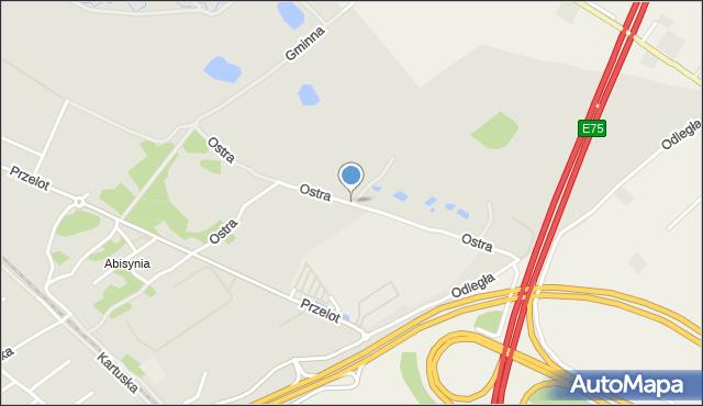 Toruń, Ostra, mapa Torunia
