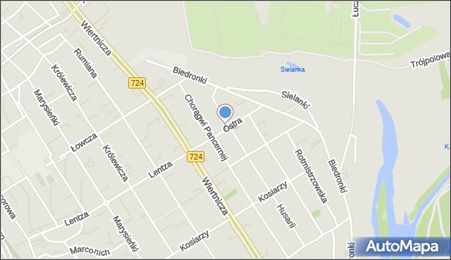 Warszawa, Ostra, mapa Warszawy