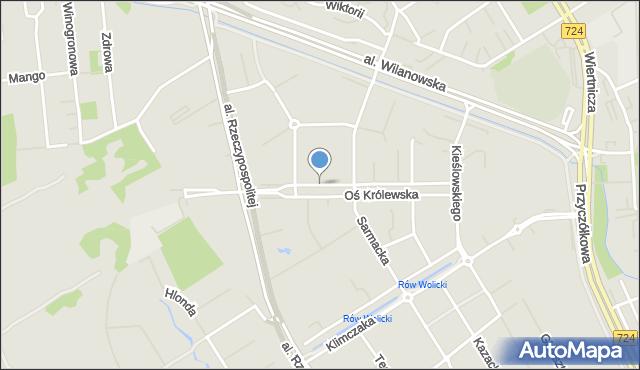 Warszawa, Oś Królewska, mapa Warszawy