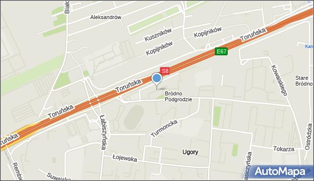 Warszawa, Osiedlowa, mapa Warszawy