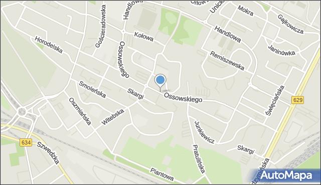 Warszawa, Ossowskiego Michała, mapa Warszawy