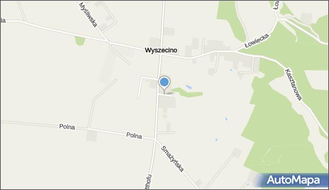 Wyszecino, Osiedlowa, mapa Wyszecino