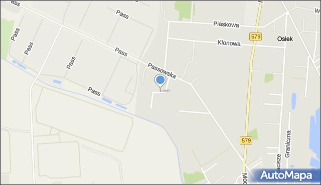 Błonie powiat warszawski zachodni, Owocowa, mapa Błonie powiat warszawski zachodni