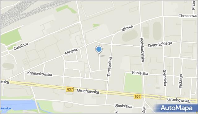 Warszawa, Owsiana, mapa Warszawy