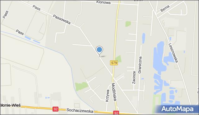 Błonie powiat warszawski zachodni, Passowska, mapa Błonie powiat warszawski zachodni
