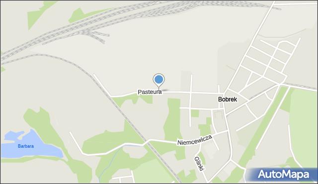 Bytom, Pasteura Ludwika, mapa Bytomia