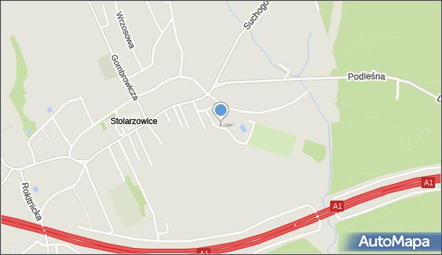 Bytom, Paczyńska, mapa Bytomia