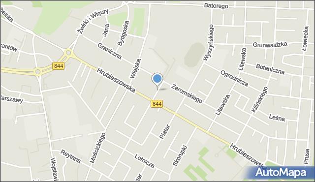 Chełm, Parkowa, mapa Chełma