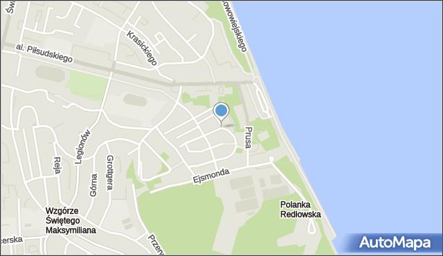 Gdynia, Paderewskiego Ignacego Jana, mapa Gdyni