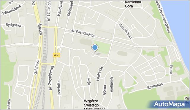 Gdynia, Partyzantów, mapa Gdyni