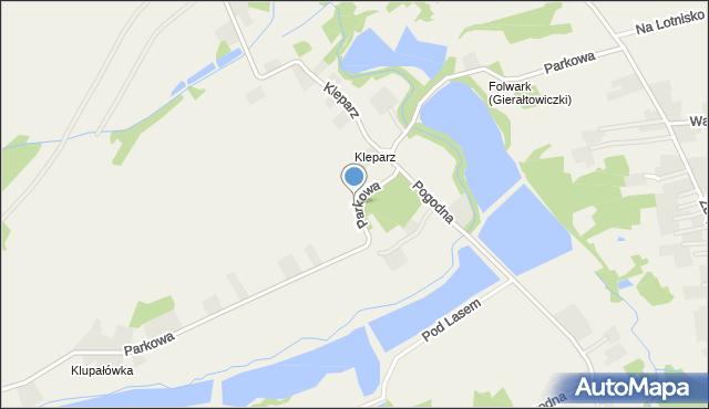 Gierałtowiczki, Parkowa, mapa Gierałtowiczki