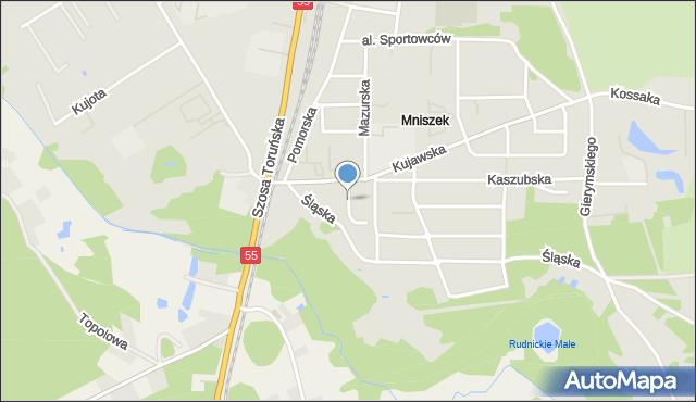 Grudziądz, Pałucka, mapa Grudziądza
