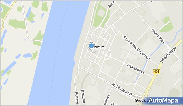 Grudziądz, Pańska, mapa Grudziądza