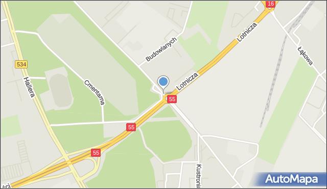 Grudziądz, Parkowa, mapa Grudziądza