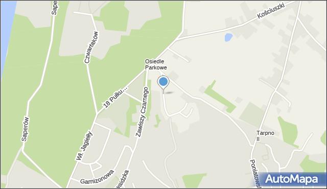 Grudziądz, Parkowa-Osiedle, mapa Grudziądza