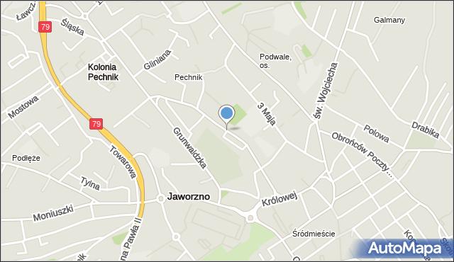 Jaworzno, Paderewskiego Ignacego Jana, mapa Jaworzno