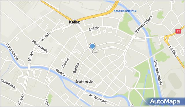 Kalisz, Parczewskiego Alfonsa, mapa Kalisza