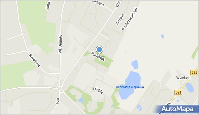 Kętrzyn, Parkowa, mapa Kętrzyn