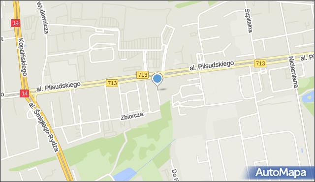 Łódź, Paryska, mapa Łodzi