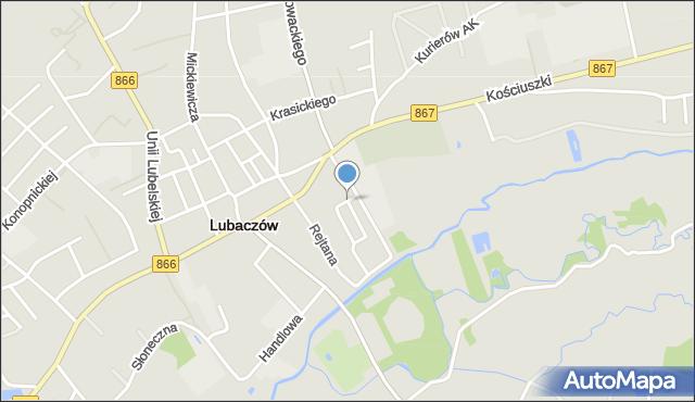 Lubaczów, Parkowa, mapa Lubaczów
