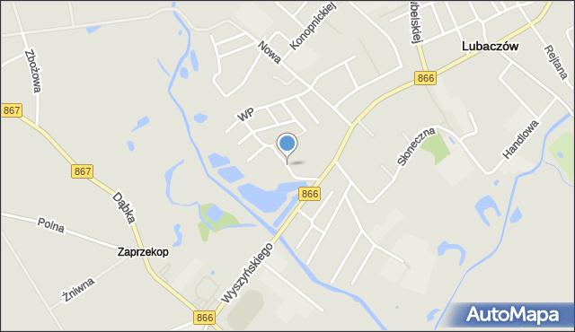 Lubaczów, Partyzantów, mapa Lubaczów