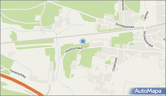 Luzino, Paraszyńska, mapa Luzino