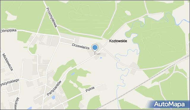 Luzino, Partyzantów, mapa Luzino